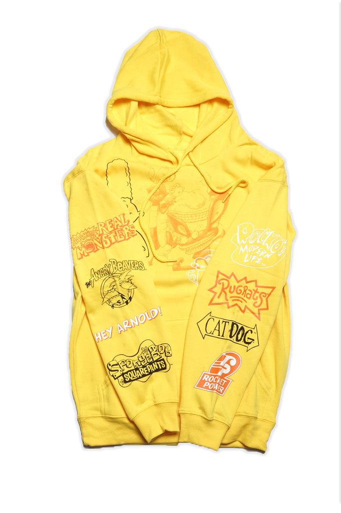 Aao Fashion Men Nickelodeon Allover Hoodie
