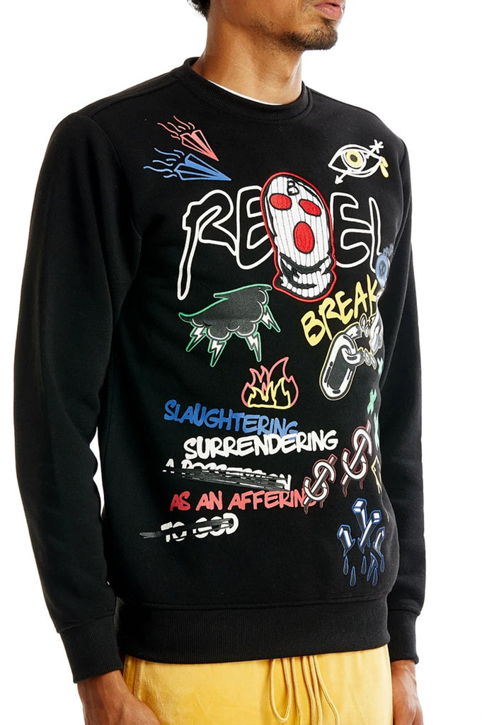 Aao Fashion Men Art Crewneck Sweatshirt
