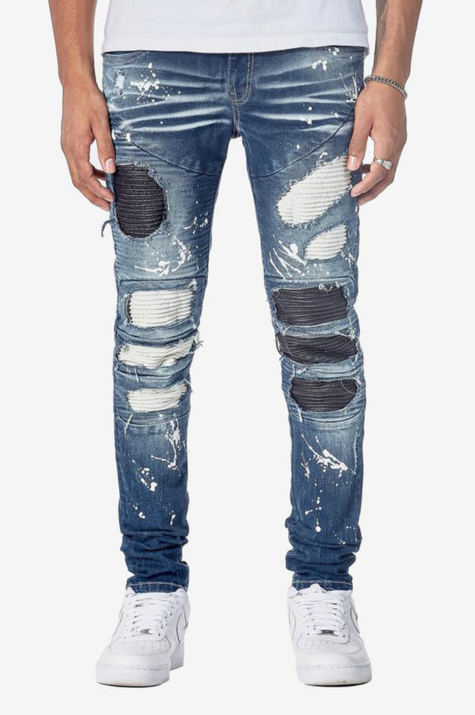 Aao Fashion Men Fashion Biker Rip & Repair Denim