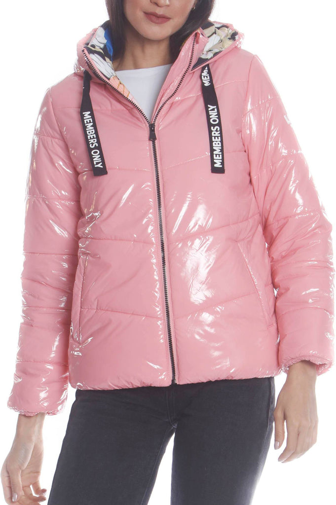 Members Only Women Puffer Jacket With Looney Tunes Cartoon