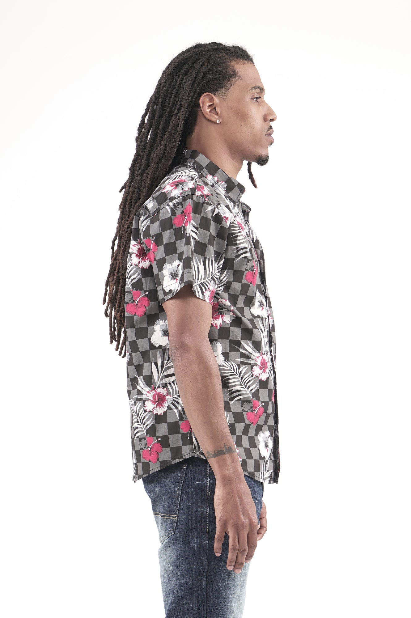 Southpole Mens All Over Print Woven Shirt Button Down Shirt