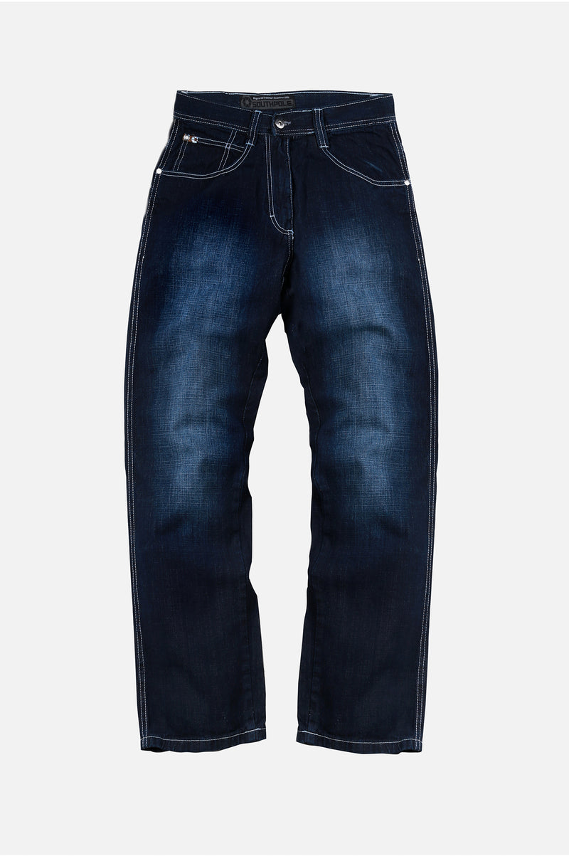 Southpole Mens 4180 Relaxed Fit Denim