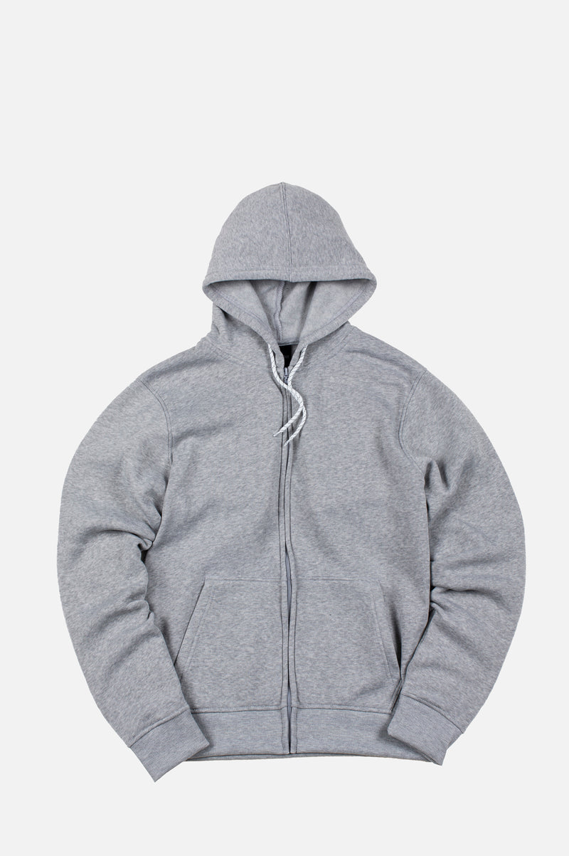 WTO2 MENS BASIC FLEECE ZIPUP