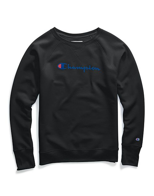 Champion Women Fleece Boyfiend Crew W/Graphic