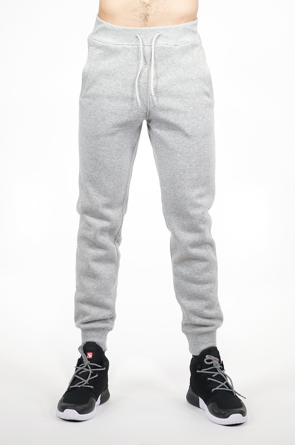 This picture is front of jogger pant. It had bright color with white drawstring