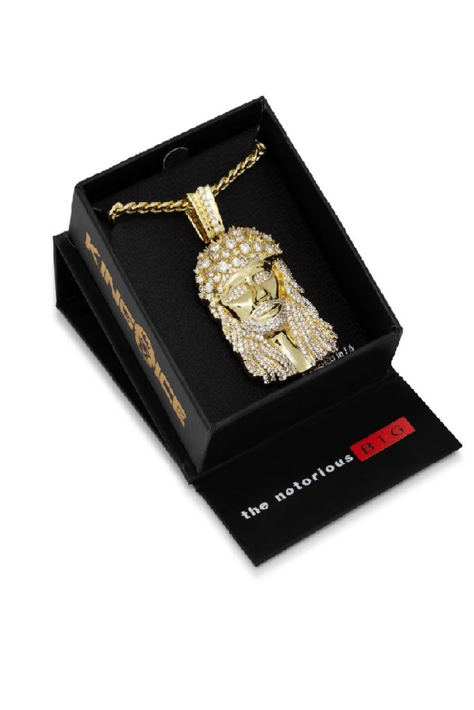 Aao Fashion Acc Biggie Jesus Necklace 14K Gold