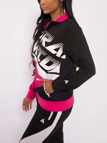 Black Pyramid Women Color Block Track Jacket