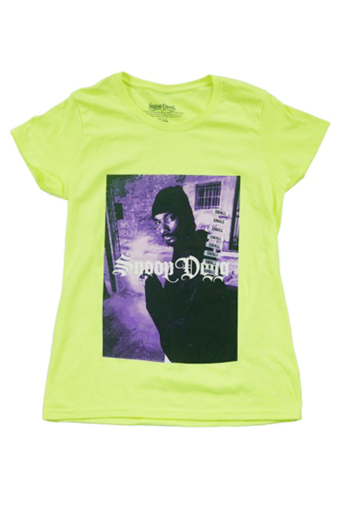 Aao Fashion Women Snoop Dogg Hands Together Neon S/S Tee