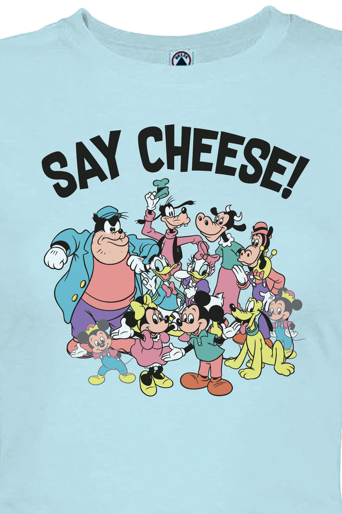 Aao Fashion Women Mickey Cast Say Cheese Graphic Tee