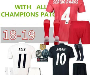 98f249a7f 2018 19 Real madrid Soccer Jersey Kroos Sergio Ramos 18 19 REAL MADRID  Champions ...