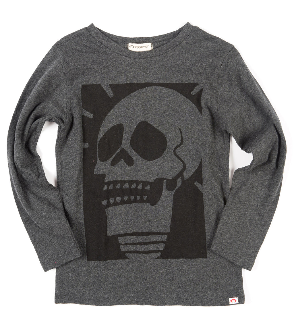Charcoal heather Appaman Black light fine line crew neck
