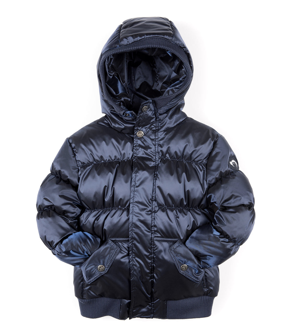 navy blue appaman puffy coat