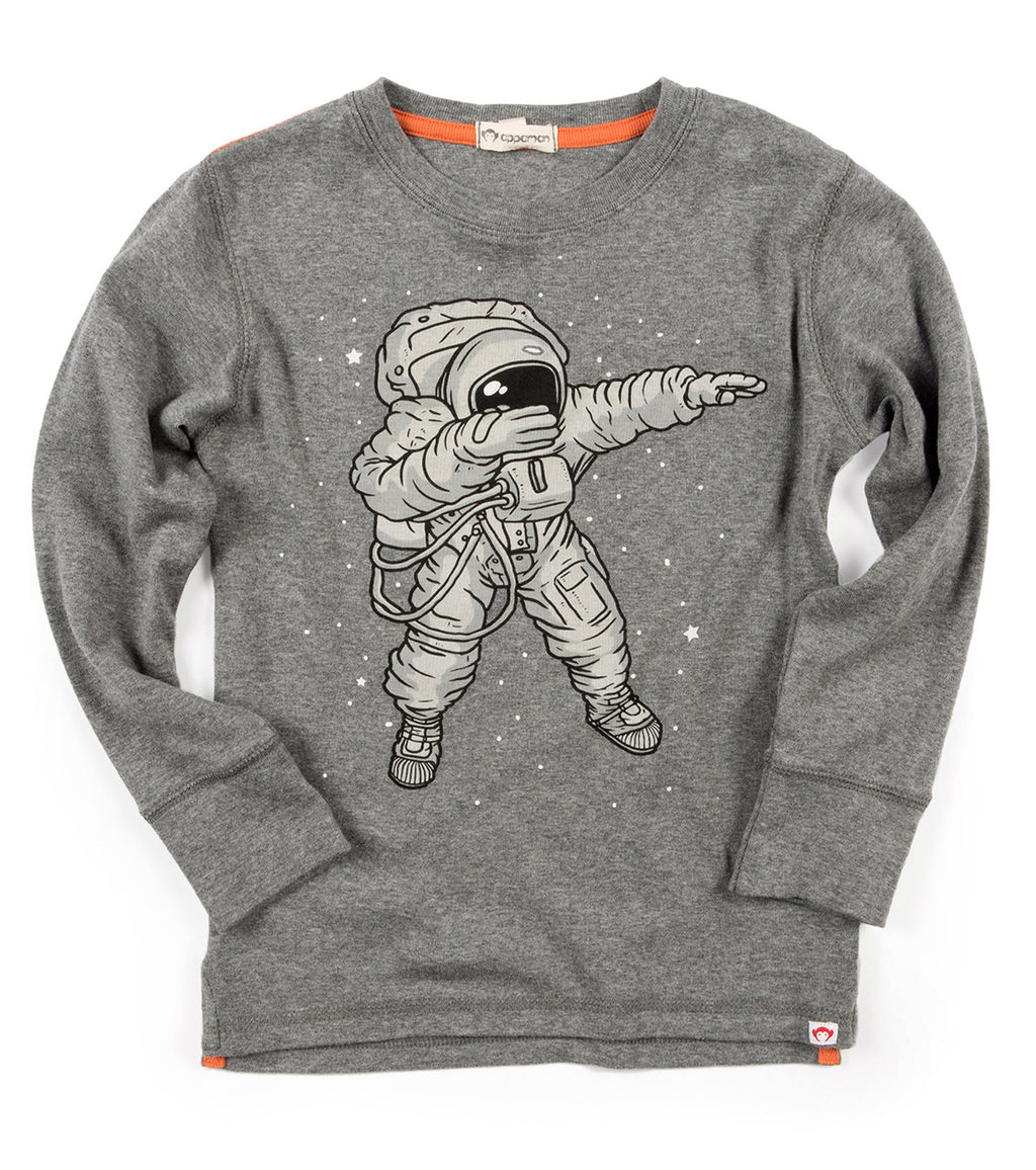 light grey heather appaman space dab tee