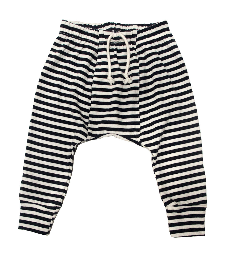 navy stripe jersey harem pants go gently nation