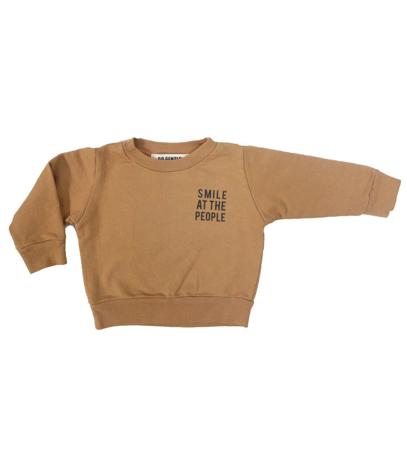 flax smile at the people crew neck go gently nation