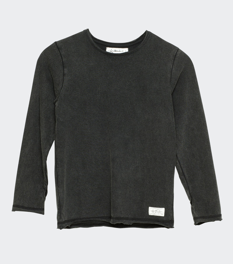 Hannes crew neck black washed I dig denim