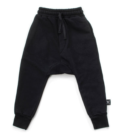 nununu black basic sweatpants harem