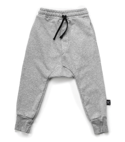 nununu heather grey basic sweatpants harem