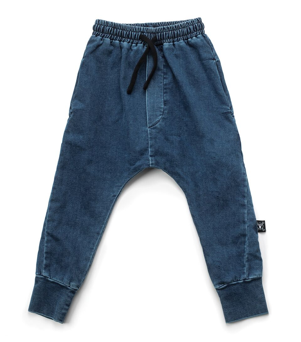 NUNUNU Basic Denim Pants harem