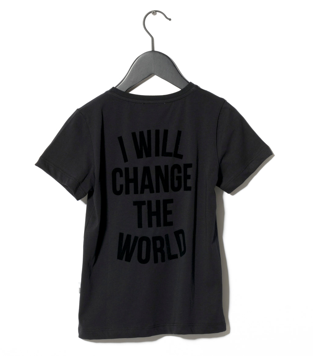 black revolution t-shirt sometime soon I will change the world