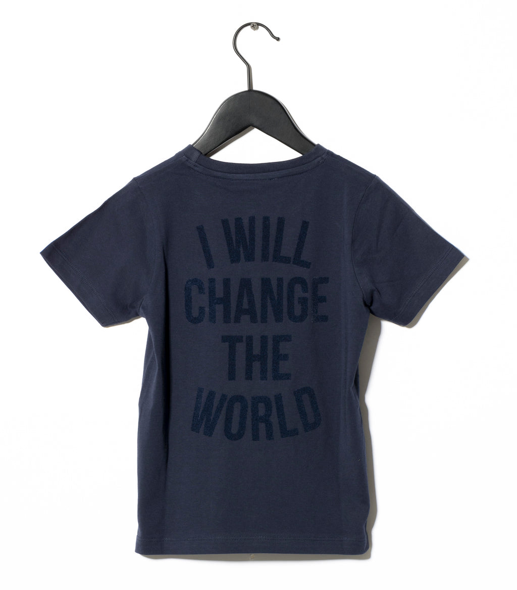 navy revolution t-shirt sometime soon I will change the world