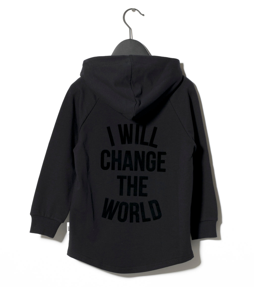 black Monterey hoodie sometime soon I will change the world