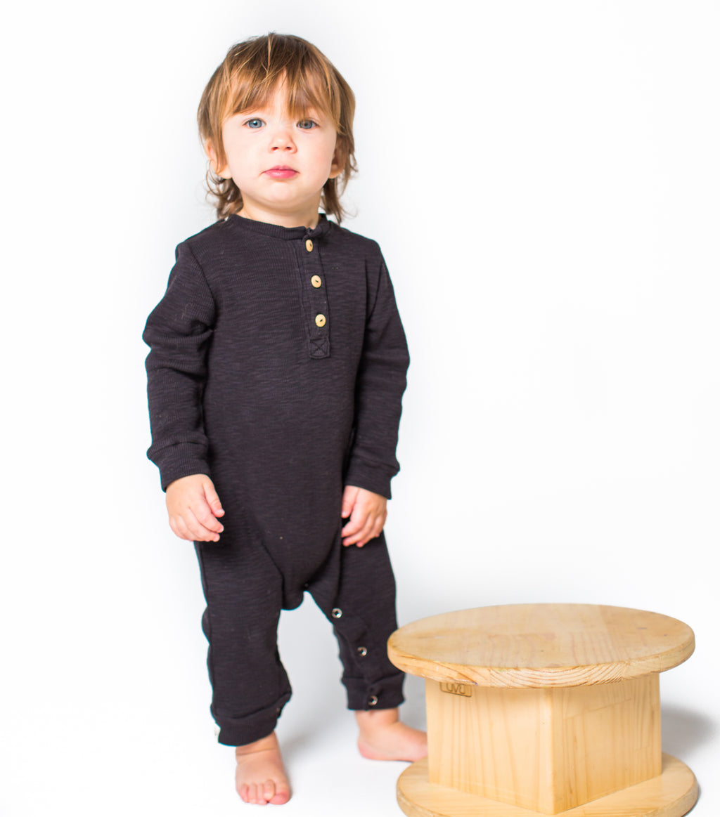 black chaboukie thermal romper