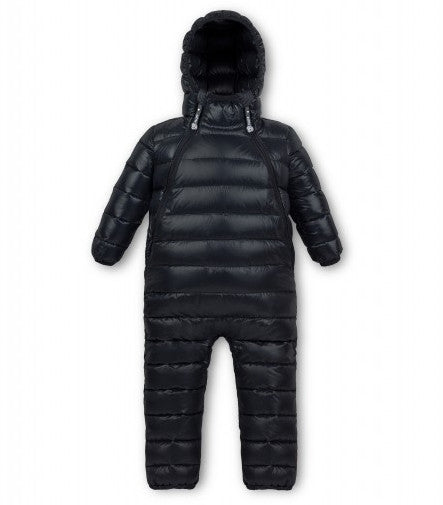 black snowsuit fluff