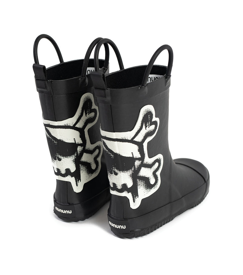 Skull Patch Rain Boots
