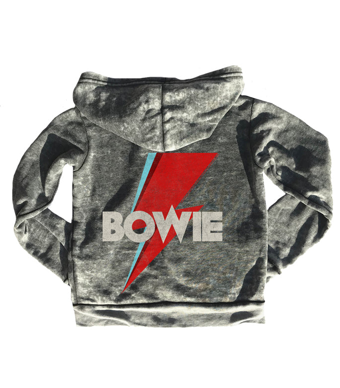 black David bowie burnout zip up hoodie rowdy sprout