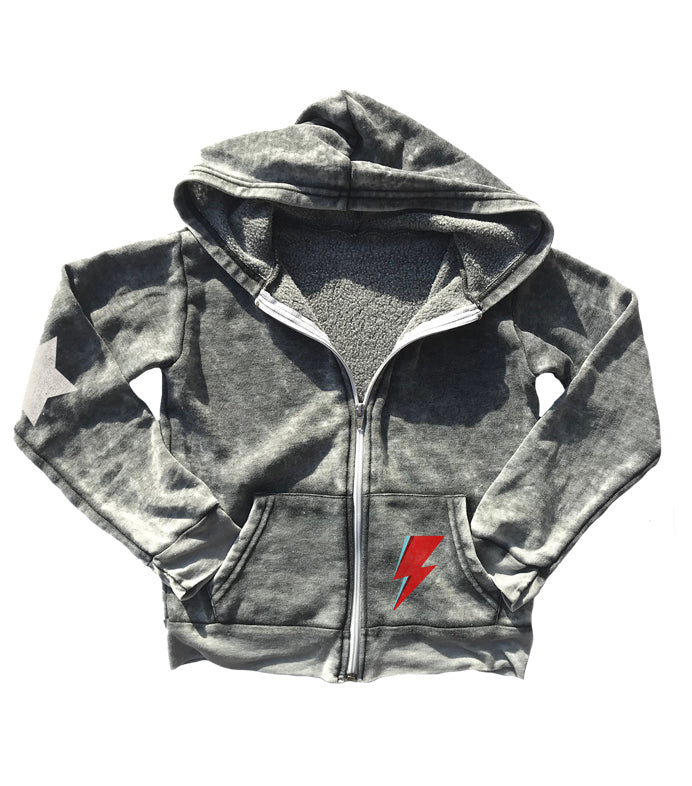 David Bowie Burnout Zip Up Hoodie