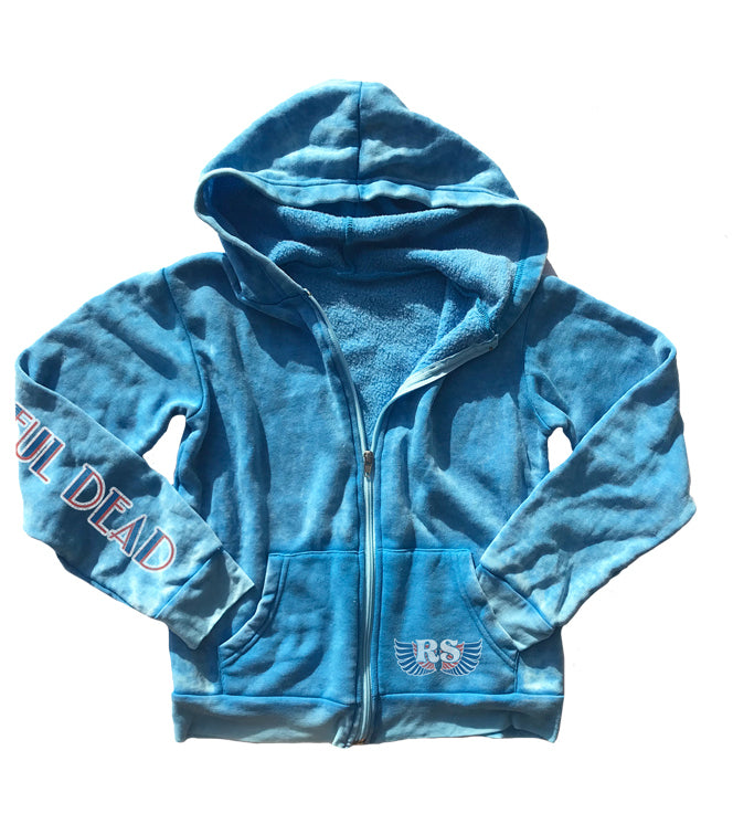 Grateful Dead Burnout Zip Up Hoodie