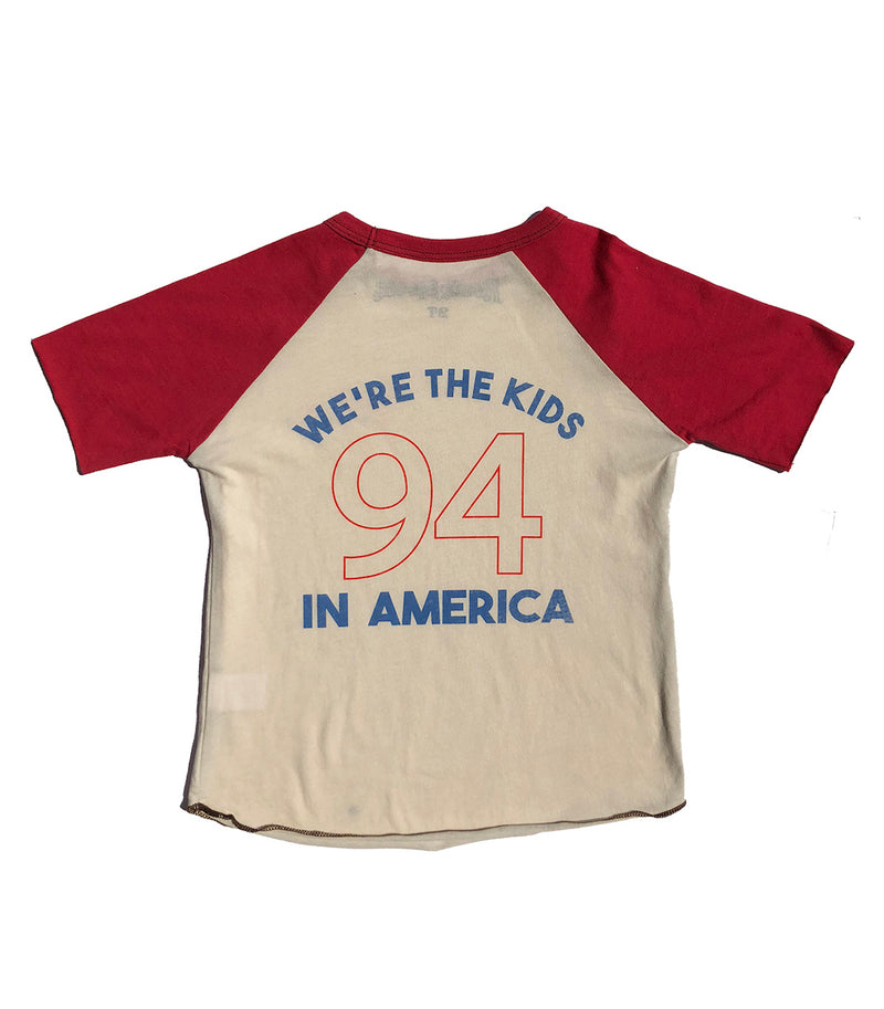 Kids In America Short Sleeve Raglan Tee