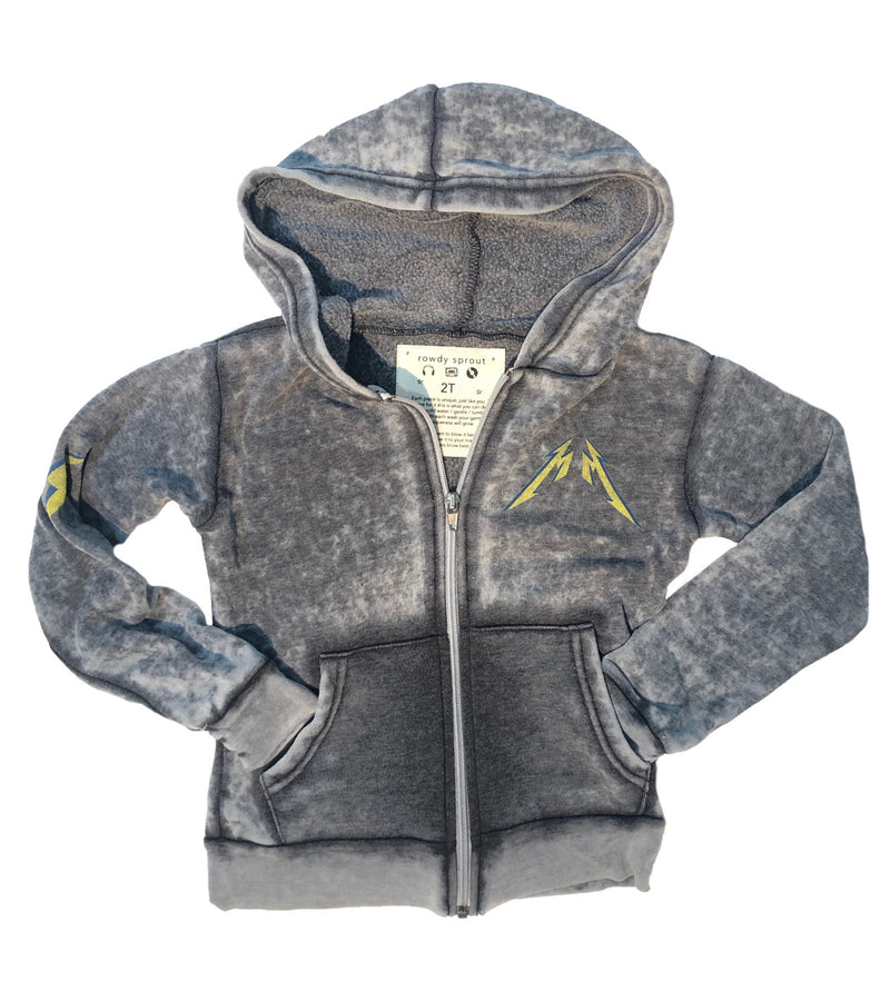 Metallica Burnout Zip Up Hoodie