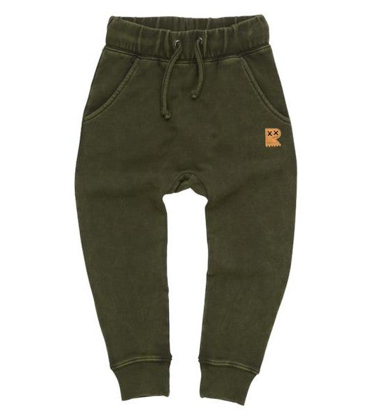 Khaki Wash Track Pants