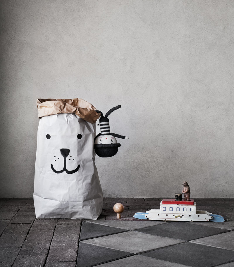 tellkiddo smiling bear paper bag