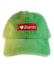 """I ❤️ Beards"" Dad Hat"