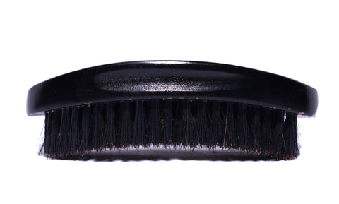 Beardos Grooming Signature Medium Palm Curve 360 Wave Brush - Black & Gold Rush