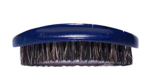 Beardos Grooming Signature Hard Palm Curve 360 Wave Brush - Blue Ocean