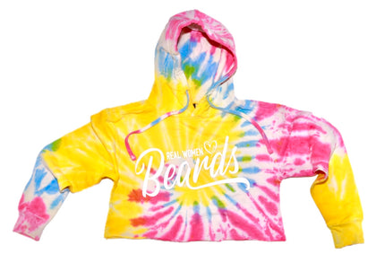 """Real Women ❤️ Beards"" Crop-top Hoodie - Regular Cut"