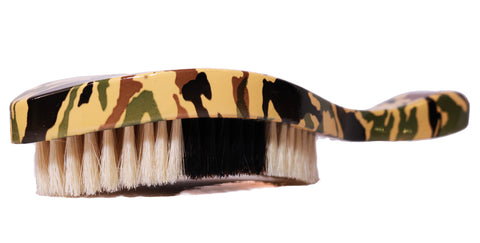 Beardos Grooming Signature Medium Soft 360 Wave Brush - Camo