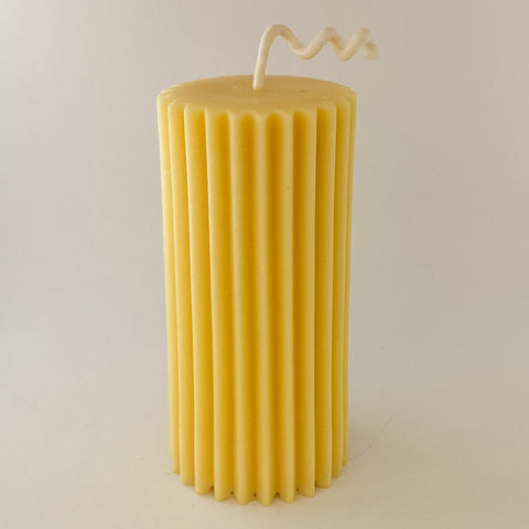 Soy/Beeswax Pillar Fluted