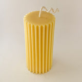 Beeswax Pillar Fluted