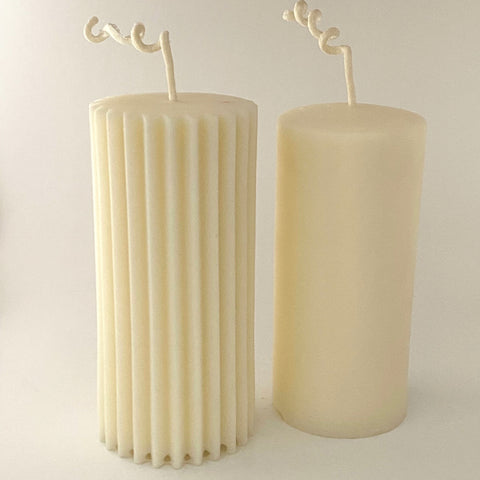 White Beeswax Pillars