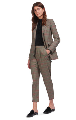 whistles brown chequered womens blazer