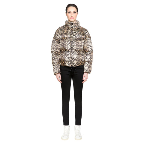 leopard puffer jacket apparis