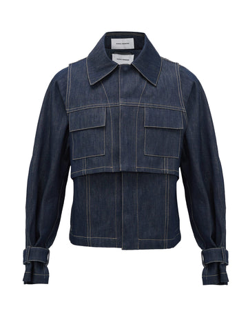 Layered Denim Jacket - Bianca Saunders - available at Matches Fashion