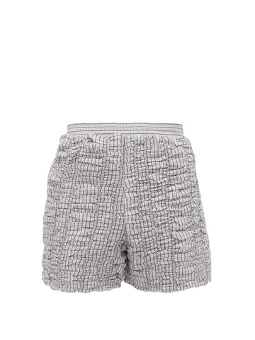 Ruched Checked Shorts - Bianca Saunders - available at Matches Fashion