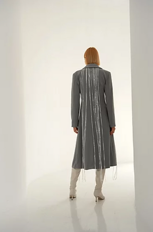 Lee Wei Hulpi Grey Trench Coat