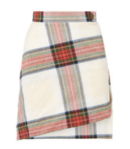 vivienne westwood white red chequered skirt